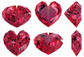 Heart shape gem isolated Royalty Free Stock Photos