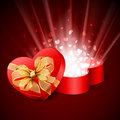 Heart shape gift Royalty Free Stock Images