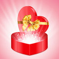 Heart shape gift Royalty Free Stock Photography
