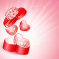 Heart shape gift Stock Images