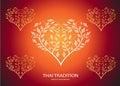 Heart shape leaf of thai tradition