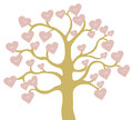 Heart shape love fruits on tree Royalty Free Stock Photos