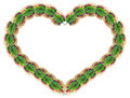 Heart shape made from leaves Royalty Free Stock Images