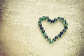 Heart shape made from marbles with vintage effect valentines day concept or wedding concept room for text Stock Images