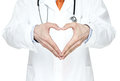 Heart shape of male doctor's hands Royalty Free Stock Photo