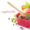 Heart shape muffin Stock Photo