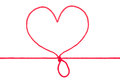 Heart shape rope Stock Images