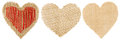 Heart Shape Sackcloth Patch, V...