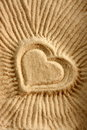 Heart Shape on Sand Royalty Free Stock Photography