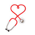 Heart shape from stethoscope on white background d render Stock Images