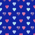 Heart shape symbol design. Colorfui Hearts pattern . Valentines Day seamless background.