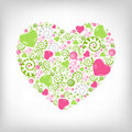 Heart Shape. Vector Royalty Free Stock Photos