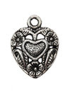 Heart shape vintage metal pendant Royalty Free Stock Photo