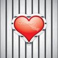 Heart shape on wooden texture vector Stock Photo