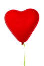 Heart shaped balloon Stock Photos