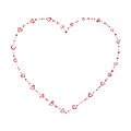 Heart shaped beads Royalty Free Stock Photography