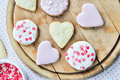Heart-shaped biscuits Stock Photography