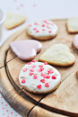 Heart-shaped biscuits Stock Image