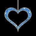 Heart shaped blue pendant