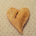Heart-shaped bread Royalty Free Stock Image