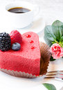 Heart shaped cake Royalty Free Stock Images