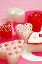 Heart shaped candles Stock Image