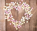 Heart shaped candy in shape of heart Stock Photos