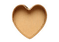 Heart shaped cardboard box eart empty isolated on a white background Royalty Free Stock Photography
