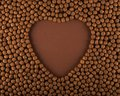 Heart shaped chocolate cereal balls