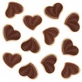 Heart shaped chocolate cookies Royalty Free Stock Photos