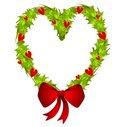 Heart Shaped Christmas Wreath Royalty Free Stock Photo