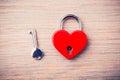 Heart shaped closed lock