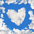 Heart-shaped cloud Royalty Free Stock Images