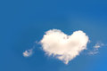 Heart shaped cloud Royalty Free Stock Photo