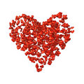 Heart-shaped cloud of hearts. Stock Image