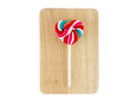 Heart shaped colorful lollipop on white background Royalty Free Stock Photo