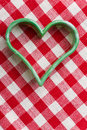 Heart-shaped cookie cutter Royalty Free Stock Photography