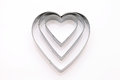 Heart shaped cookie cutter Royalty Free Stock Photo