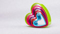 Heart shaped cookie cutter on white background Royalty Free Stock Photo