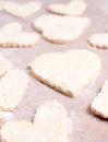 Heart shaped cookie from dough Stock Photo