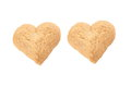 Heart shaped cookie on white background Royalty Free Stock Images