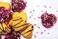 Heart shaped cookies Stock Photography