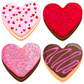 Heart shaped donuts collection