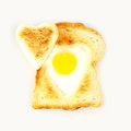Heart shaped egg in toast Royalty Free Stock Photo