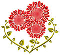 Heart shaped flowers. Royalty Free Stock Photos