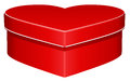 Heart shaped gift box on white background Stock Photos