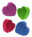 Heart-shaped Gift Boxes Stock Images