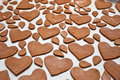 Heart shaped gingerbread Stock Images