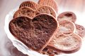 Heart shaped gingerbread cookies close up love concept valentine s day Stock Photography