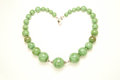 Heart shaped green necklace Royalty Free Stock Photos
